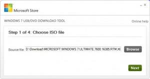 Windows 7 USB Stick