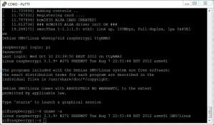 Raspbian login via serial port